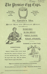 Advert for the Premier Egg Cup